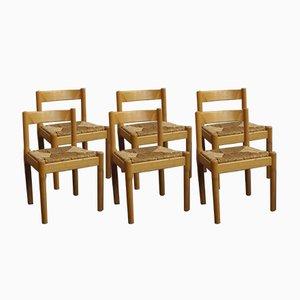 Carimate Stühle von Vico Magistretti für Cassina, 1970er, 6er Set