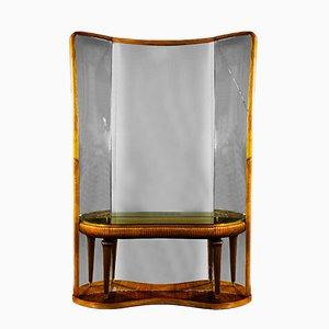 Consolle e specchio vintage, Italia, anni '40