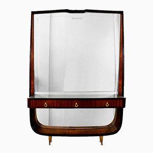 Italienischer Vintage Spiegel mit Ablage, 1940er