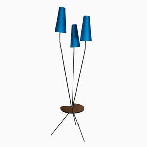 Lámpara francesa Mid-Century trípode, años 60