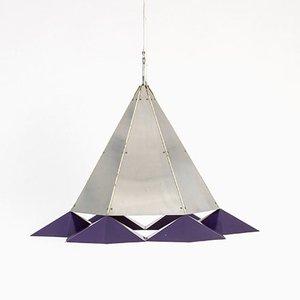 Lámpara colgante de metal, años 60