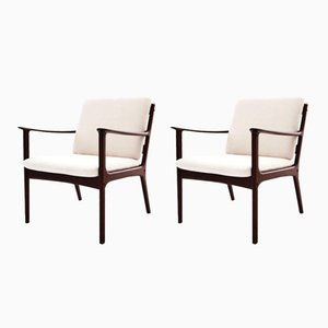 PJ112 Armchairs by Ole Wanscher for Poul Jeppsen, 1950s, Set of 2