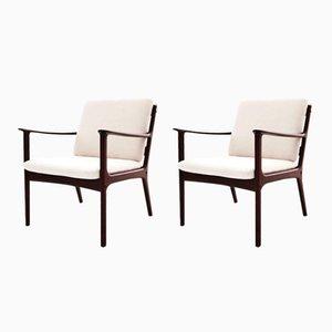 PJ112 Armchairs by Ole Wanscher for Poul Jeppsen, 1950s, Set of 2