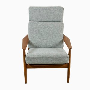 164 Reclining Armchair by Arne Vodder for France & Søn, 1960s