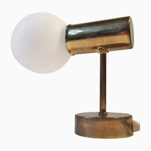 Model V-149 Brass & Opaline Glass Wall Light by Hans-Agne Jakobsson for Markaryd AB, 1950s