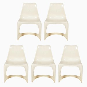 A-Line 290 Side Chairs by Steen Ostergaard for Cado, 1970s, Set of 5