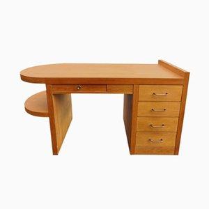 Mid-Century Eichenholz Schreibtisch, 1950er