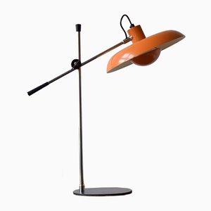 Lampada da scrivania RA-30 Mid-Century arancione di Piet Hein per Lyfa, anni '70