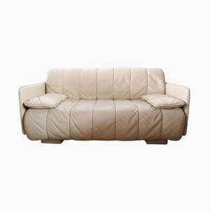 Swiss Leather Sofa from de Sede, 1980s