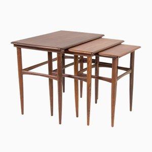 Tavolini a incastro in palissandro, Danimarca, anni '60