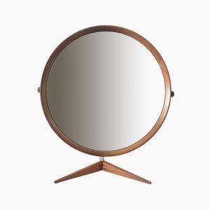 Espejo de mesa grande de teca de Östen & Uno Kristiansson para Luxus, años 60