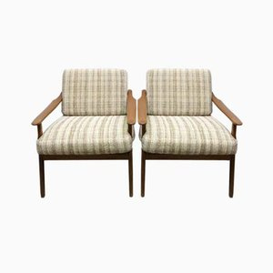 Mid-Century Scandinavian Armchairs, 1950s, Set of 2