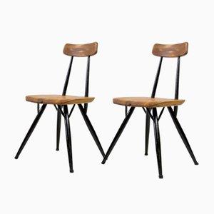 Mid-Century Pirkka Stühle von Ilmari Tapiovaara für Laukaan Puu, 2er Set