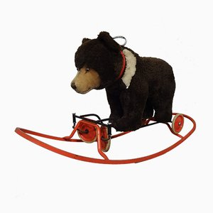 Vintage German Rocking Bear from Steiff, 1950s
