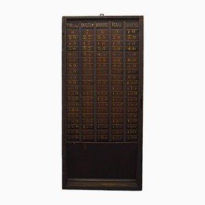 Tablón de fábrica vintage para horarios