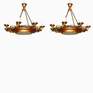Chandeliers, 1940s, Set of 2