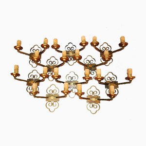 Wall Sconces, 1940s, Set of 10