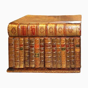 Antique Book Shaped Tantalus