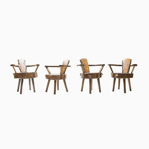 Austrian Tree Trunk Armchairs, 1960s, Set of 4