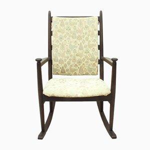 Rocking Chair Teintée Marron Foncé Mid-Century par Poul M. Volther pour Gemla,1950s