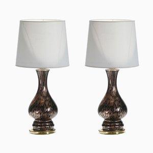 Lámparas Avventurina de Murano de Vincenzo Nason, años 60. Juego de 2