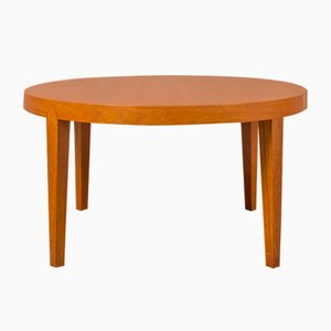 Table Basse Ronde en Teck par Severin Hansen pour Haslev Møbelsnedkeri, 1960s