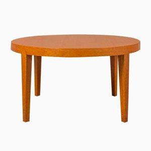 Table Basse Ronde en Teck par Severin Hansen pour Haslev Møbelsnedkeri, Danemark, 1960s