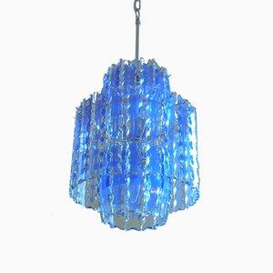 Lámpara de araña de Murano con vidrio Art de Fontana Arte, años 70