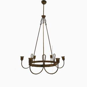 Lámpara de araña de 6 luces, años 50
