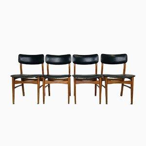 Dänische Mid-Century Stühle, 1950er, 4er Set