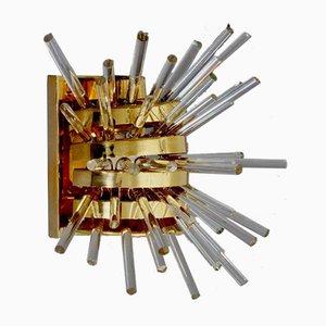 Vergoldete Modell Miracle Wandlampe von Friedl Bakalowits für Bakalowits & Söhne, 1960er