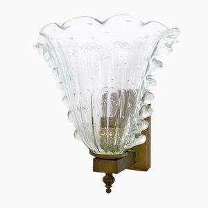 Luz de pared de cristal de Murano de Ercole Barovier, años 30