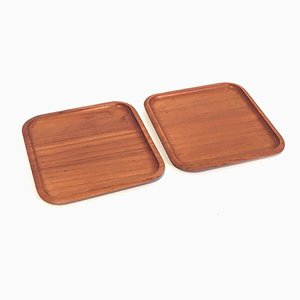 Vintage Teak Serving Trays by Holmbergs for Götene, Set of 2