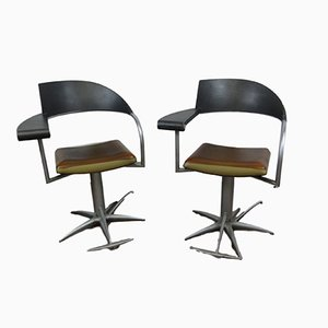 Chaises de Barbier Vintage par Philippe Starck pour Tecno,, 1990s, Set de 2