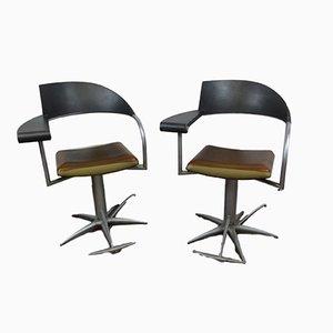 Sedie vintage da barbiere di Philippe Starck per Tecno, anni '90, set di 2