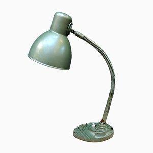 Luz de mesa belga en verde menta de Erpe, años 40