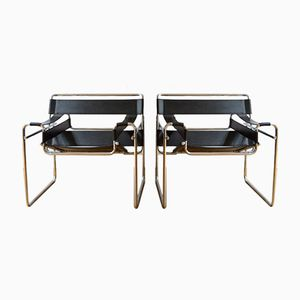 Vintage Wassily Armchairs by Marcel Breuer, Set of 2