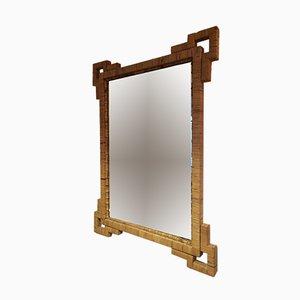 Vintage Rattan & Bamboo Mirror