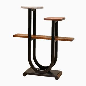 Vintage Art Deco Bent Oak Free Standing Plant Stand