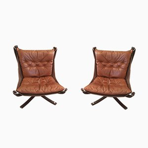 Mid-Century Falcon Armchairs by Sigurd Ressell, 1970s, Set of 2