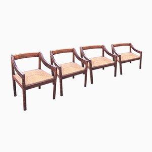 Carimate Esszimmer Stühle von Vico Magistretti für Cassina, 1960er, 4er Set
