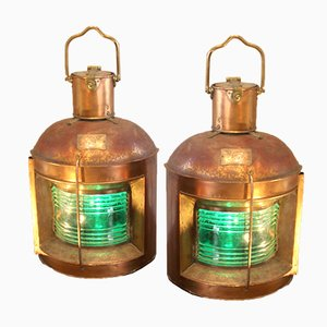 Vintage Japanese Lanterns, Set of 2