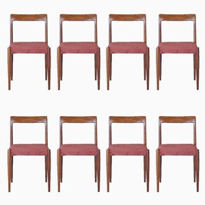 Rosewood Dining Chairs from Lübke, 1960s, Set of 8