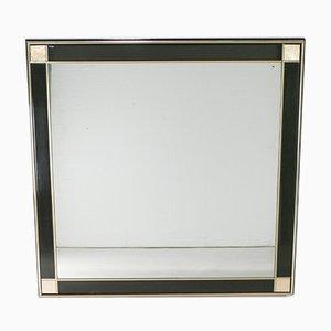 Spiegel mit Rahmen aus Lackiertem Messing, 1975