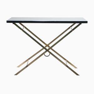 Tavolino in ottone nero, anni '60