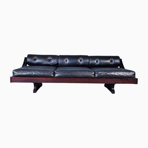 Model GS-195 Black Leather Daybed by Gianni Songia for Luigi Sormani, 1963