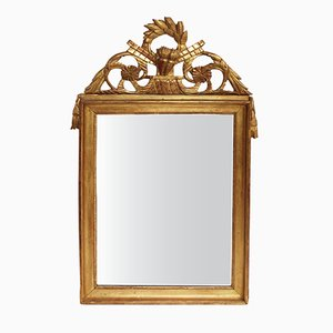 19th-Century French Empire-Style Giltwood Mirror