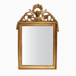 Miroir Style Empire en Bois Doré, France, 19ème Siècle