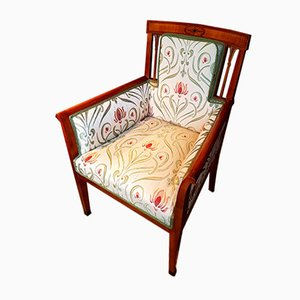 Antique Art Nouveau Cherry Armchair