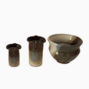 Vintage Ceramics by Marcel Piot, Set of 3
